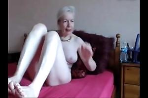 Amateur. well done randy granny masturbates