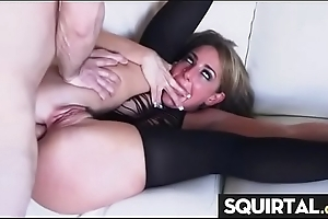 Depending sexy girl cum together with squirt Thirty