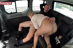 Unsophisticated bosom porn video just about a taxi cab - angela christin