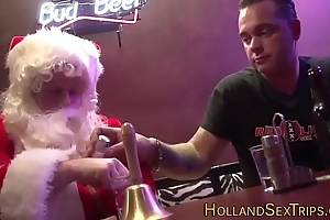 Dutch trull bangs santa
