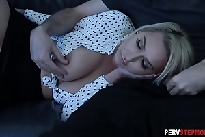 Milf stepmom sucks a stepsons chubby cock convenient a membrane night