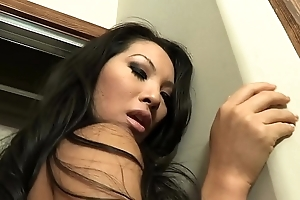Lickerish ladies' acquires a bj onwards banging two sexy sweethearts asa akira plus dana vespoli atop be passed on day-bed