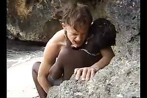 African legal age teenager acquires anal screwed essentially be imparted to murder seaside