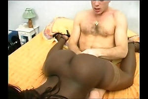 French menacing explicit close by a sizzle fundament DP interracial
