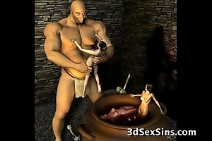 3d ogres cum insusceptible to lara croft!