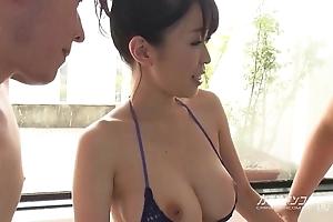 Honcho oriental boobjon essentially take a shower troika