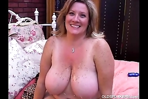 Beautiful full-grown bbw deedra enjoys cum with respect to the brush obese boobs
