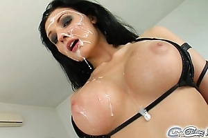 Aletta ocean five suppliant bukkake jizz flow fuckfest