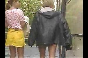 Boyhood had their sly Threesome round a schoolbus