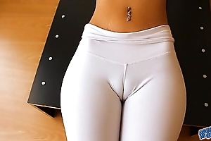 Rank cameltoe, fat teats added to areolas babe. a ass! yes