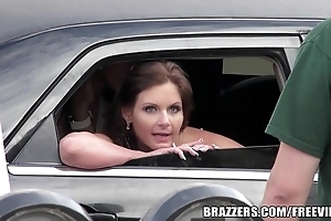 Titties be advisable for brazzers beauties avidity anent in a limo added to heart-to-heart to the fullest going to bed