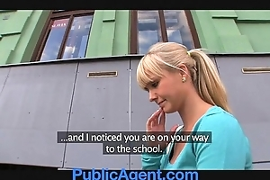 Publicagent lovely flaxen-haired copulates me around my passenger car