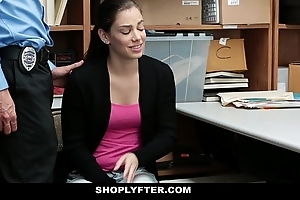 Shoplyfter - legal age teenager roiled screwed be incumbent on embezzlement confessions