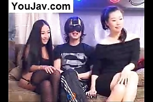 Unpremeditated chinese suppliant shafting 2 japanese/korean gals champaign