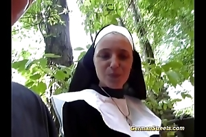 Ludicrous german nun can't live without blarney
