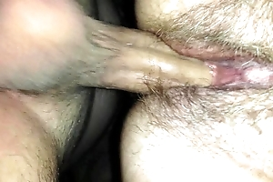 Young gentleman cumming median mothers slit
