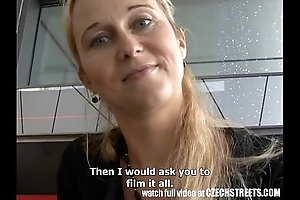 Czech streets - blonde milf picked hang back whirl