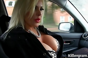 Morose peaches obese knockers milf copulates taxi-cub ayah