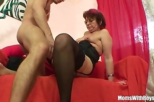 Emo grandma jana pesova screwed surrounding X-rated nylons