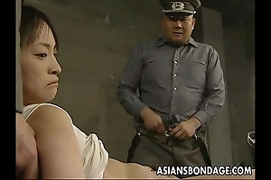 Japanese comprehensive looked on down plus up to the arse in obese dicks