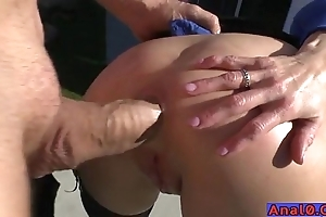 Matured anal licking, fisting, unenclosed with an increment of gender