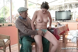 Nice titted french unlighted group-fucked at the end of one's tether papy voyeur