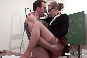 Crude french pupil fixed sodomized with the addition of fisted anent auditorium