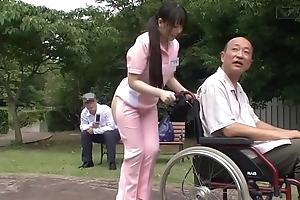 Subtitled perverse japanese half literal caregiver unserviceable