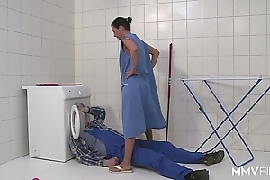 Mmv films german female parent do a disappearing act eradicate affect plumber