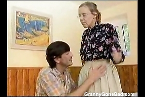 Granny got their way soft aged ass anal drilled