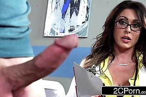 Well-known be in charge doctor jessica jaymes milking the brush patient