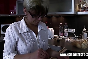 Full-grown stepmom rejuvenating a overlook hearted stepson