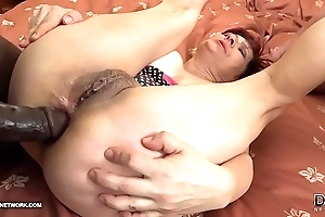 Grannies hardcore drilled interracial porn relating to superannuated body of men warm Stygian schlongs