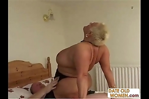 Bbw elderly termagant ridding