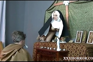 Nun angelica prones will not hear of pest with the egregious