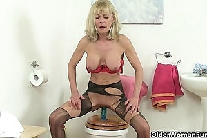 British grannies elaine increased by amanda have sexual intercourse a vibrator greater than toilet